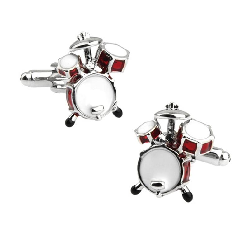 3D Design Red Details about  /Drum Kit Cufflinks Musical Instrument Theme Cufflinks